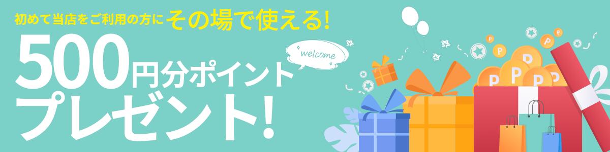 500円分ポイントプレゼント!