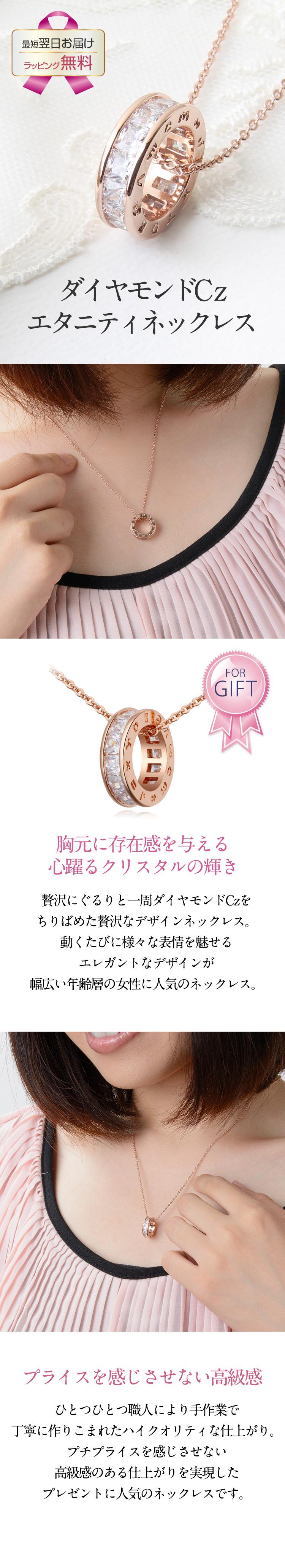 PGエタニティリング★ダイヤモンドCzネックレス